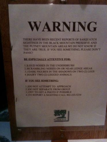 wrt sasquatch warning sign