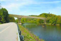 Photo courtesy of FIGG This is an artist's rendering of the design for the new Interstate 91 bridge over the West River and Route 30 in Brattleboro.
