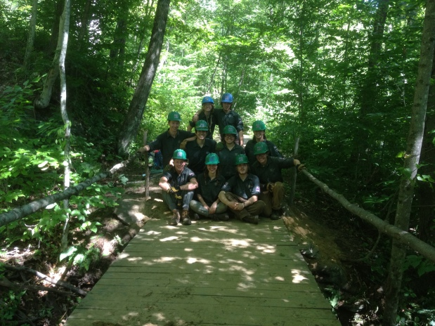 West River Trail Work Completed by the Vermont Youth Conservation Corps