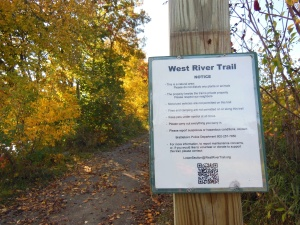 west river trail sign
