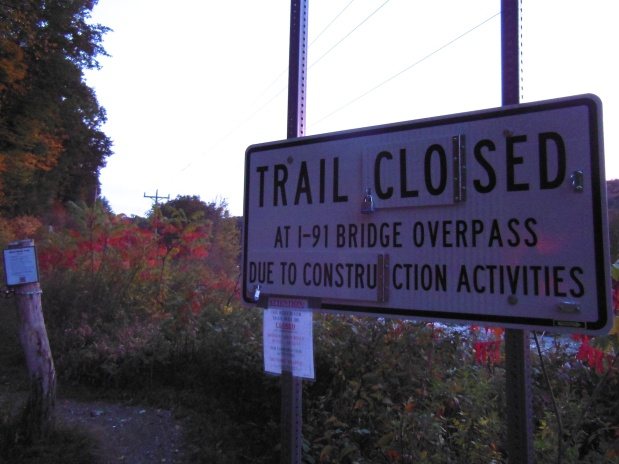 West River Trail Closure Update for Week of Oct. 13, 2013