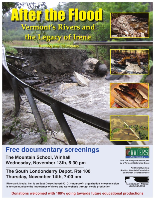 Film: After the Floods: Vermont's Rivers and the Legacy of Irene
