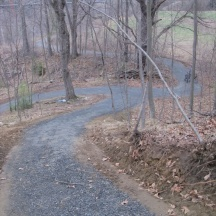 Looking down at the bypass trail from the spur to New Chapter