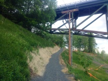west river trail detour at marina trailhead