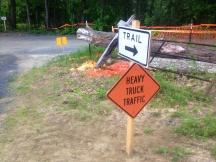 west river trail detour at marina trailhead