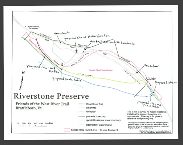 West River Trail Riverstone Preserve Map
