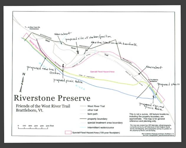 West River Trail Riverstone Preserve Map
