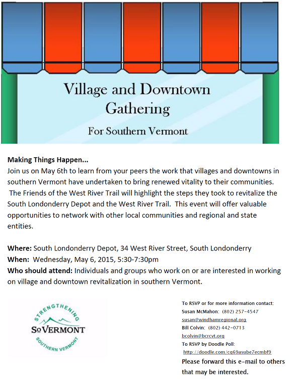 Village and Downtown Revitalization Workshop Series: Making Things Happen