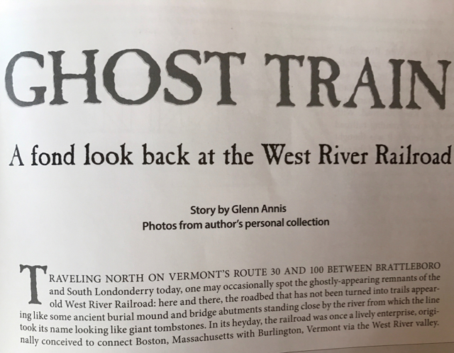 West River Railroad, Vermont Magazine