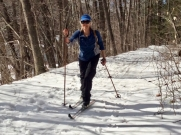 Spring ski, West River Trail