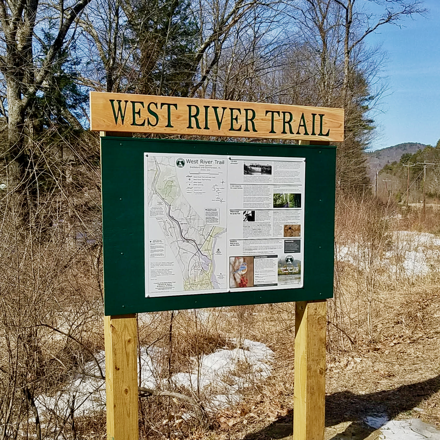 West River Trail Rice Farm Road Sign, Photo by Stephen Shriner, March 2020